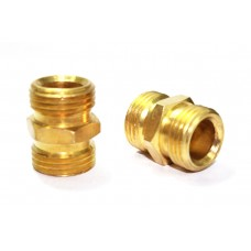 Brass Double Nipple Hex Adapter Male Connector Compression Fittings.